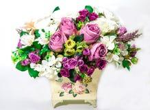 sztucznego tła kwiatu odosobniony biel Zdjęcia Royalty Free