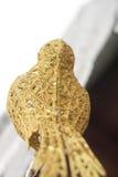 Sztucznej dekoraci Złoty ptak Fotografia Stock
