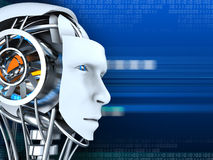 sztucznej emoci głowy sztuczny inteligenci robot tam vector Ilustracja Wektor