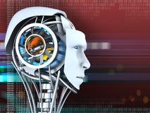 sztucznej emoci głowy sztuczny inteligenci robot tam vector Royalty Ilustracja