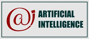 Sztucznej inteligenci emblemat Fotografia Stock