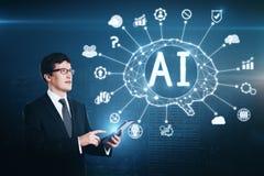 Sztucznej inteligenci i technologii pojęcie obraz royalty free