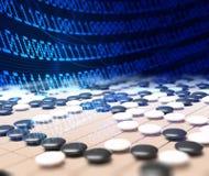 Sztucznej inteligenci konkurowanie w grą iść Zdjęcie Stock