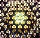 Sztucznej inteligenci pojęcie z heksagonalnymi jednostkami royalty ilustracja