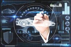 Sztucznej inteligenci, transportu i przyszłości pojęcie, Fotografia Royalty Free