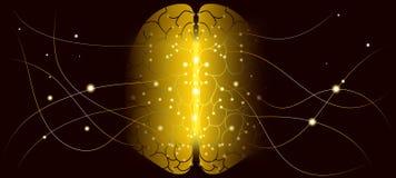 Sztucznej inteligencji i Cyber umysłu pojęcie ilustracja wektor