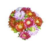 Sztuczni bouguet kwiaty odizolowywający Obrazy Royalty Free
