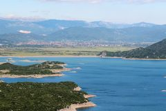 Sztuczni jeziora w Niksic, Montenegro Obraz Stock