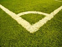 sztuczni kąta pola trawy sporty Zdjęcia Royalty Free