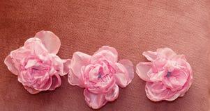 Sztuczni kwiaty handmade Fotografia Stock