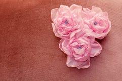 Sztuczni kwiaty handmade Zdjęcie Stock