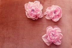 Sztuczni kwiaty handmade Zdjęcia Stock