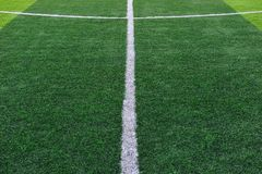 Sztuczny Boisko Do Piłki Nożnej Zdjęcia Stock