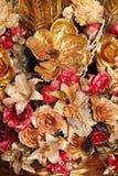 Sztuczny bukiet kwiatu złocisty kolor Zdjęcie Royalty Free
