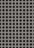Sztuczny dziurkowaty metalu talerz obraz stock