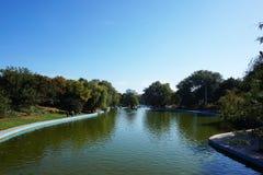 Sztuczny jezioro w parku Obrazy Royalty Free