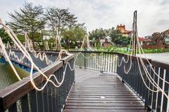 Sztuczny krajobraz w Yuejin Latarniowym festiwalu w Tainan Zdjęcie Royalty Free