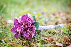 Sztuczny ślubny bukiet Zdjęcie Royalty Free