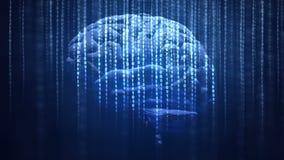 sztuczny móżdżkowy obwodów pojęcia elektronicznej inteligenci mainboard royalty ilustracja