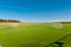 Sztuczny murawy boisko piłkarskie Obraz Royalty Free