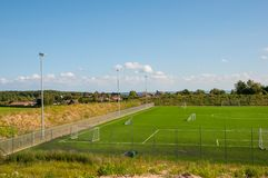 Sztuczny murawy boisko piłkarskie Zdjęcie Stock