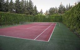 Sztuczny nawierzchniowy tenisowy sąd Sporta i zdrowie pojęcie zdjęcie stock