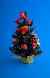 sztuczny nowy drzewny rok zdjęcie stock