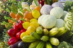 Sztuczny owoc i warzywo. Zdjęcia Stock