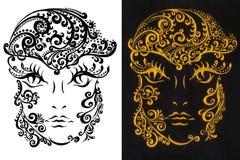 sztuczny piękny jaskrawy kolorowy kreatywnie rzęs eyeshadow piórka kwiatu dziewczyny długi makeup target390_0_ wianku potomstwa p Zdjęcie Royalty Free