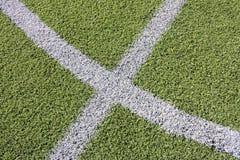 Sztuczny trawy boisko piłkarskie zdjęcia royalty free
