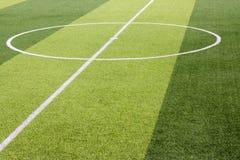 Sztuczny trawy boisko piłkarskie zdjęcia stock