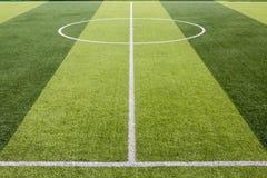 Sztuczny trawy boisko piłkarskie obraz stock