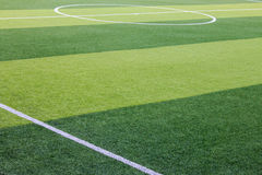 Sztuczny trawy boisko piłkarskie w Chiang Mai, Tajlandia zdjęcia royalty free