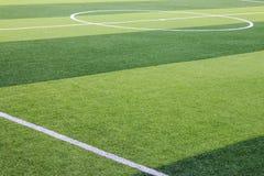 Sztuczny trawy boisko piłkarskie w Chiang Mai, Tajlandia zdjęcia stock