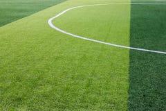 Sztuczny trawy boisko piłkarskie w Tajlandia zdjęcia stock