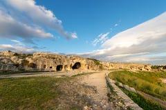 Sztuczny Zawala się - Antycznego amfiteatr Syracuse Włochy Zdjęcia Royalty Free