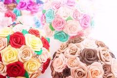 Sztucznych kwiatów róże od piany zdjęcie royalty free