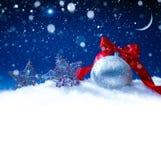 Sztuk bożych narodzeń śnieżna dekoracja Zdjęcia Royalty Free