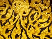 sztuk cyzelowania tworzą tajlandzkiego drewno Zdjęcia Stock