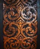 sztuk cyzelowania tworzą tajlandzkiego drewno Obrazy Royalty Free