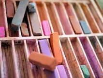 Sztuk dostawy: Kolorów Kredowi pastele obraz royalty free