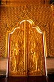 sztuk drzwi rzeźbią tajlandzkiego Obraz Stock