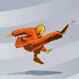 sztuk fu kopnięcia kung wojenny ilustracji