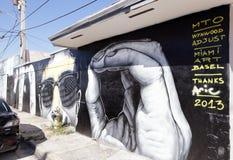Sztuk malowidła ścienne przy Wynwood Obraz Stock