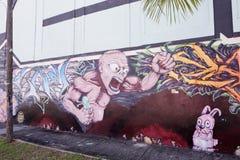 Sztuk malowidła ścienne przy Wynwood Obraz Royalty Free