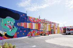 Sztuk malowidła ścienne przy Wynwood Obrazy Stock
