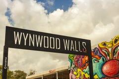 Sztuk malowidła ścienne przy Wynwood kreatywnie i sztuki gromadzkie w Miami Zdjęcie Royalty Free