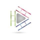 Sztuk wideo, znaki, IT usługa i multimedialny logo i, ilustracja wektor