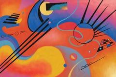 Sztuka abstrakcjonistyczny projekt Zdjęcie Royalty Free