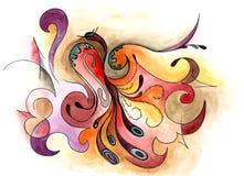 Sztuka abstrakcjonistyczny projekt ilustracja wektor